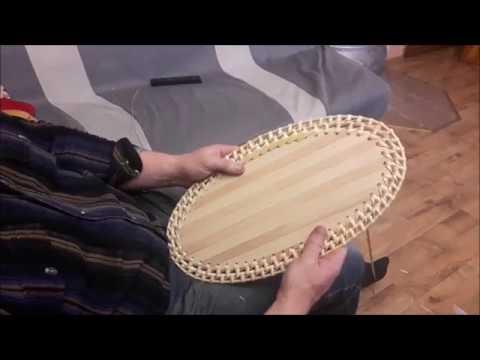 Плетение грибной корзины часть 2