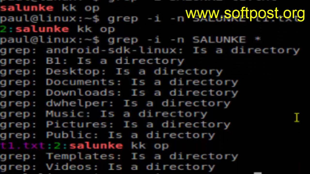 grep command examples in Ubuntu