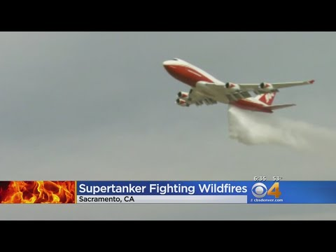 Supertanker Fighting Wildfires