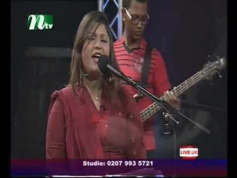 Tumi Mure Vuila Jaio Na Singing By UK Most Popular Bengali Singer Shefali In Live Tv Show By Raihan