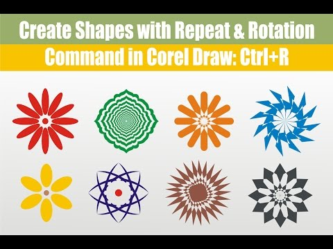 Corel Draw Rotate &  Repeat Command