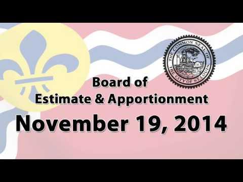 Estimate & Apportionment   November 19, 2014