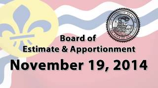 Estimate & Apportionment   November 19, 2014