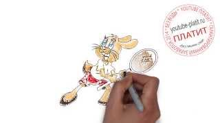 Заяц из Ну погоди  Как правильно рисовать Ну погоди поэтапно карандашом(Ну погоди. Как правильно нарисовать волка или зайца из мультфильма Ну погоди поэтапно. На самом деле легко..., 2014-09-11T16:06:02.000Z)