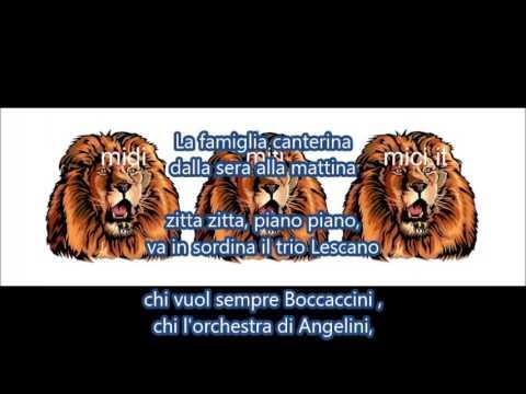 La famiglia canterina(Trio Lescano, E.Bonino)karaoke strumentale