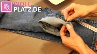 Jeanshose kürzen