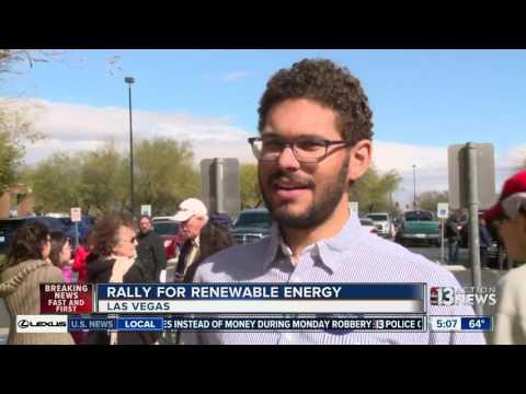 Rally for renewable energy in Las Vegas
