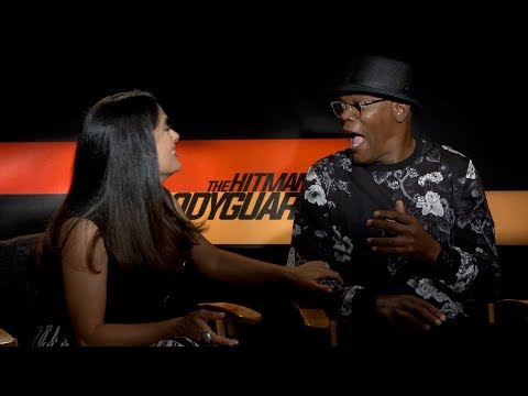 Hitmans Bodyguard interview w Salma Hayek and Sam Jackson