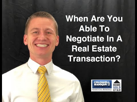 When Are You Able to Negotiate in a Real Estate Transaction?