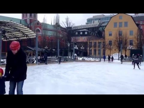 Stockholm outdoor ski playground