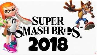 SMASH BROS 2018 CON INKLING Y CRASH BANDICOOT?!