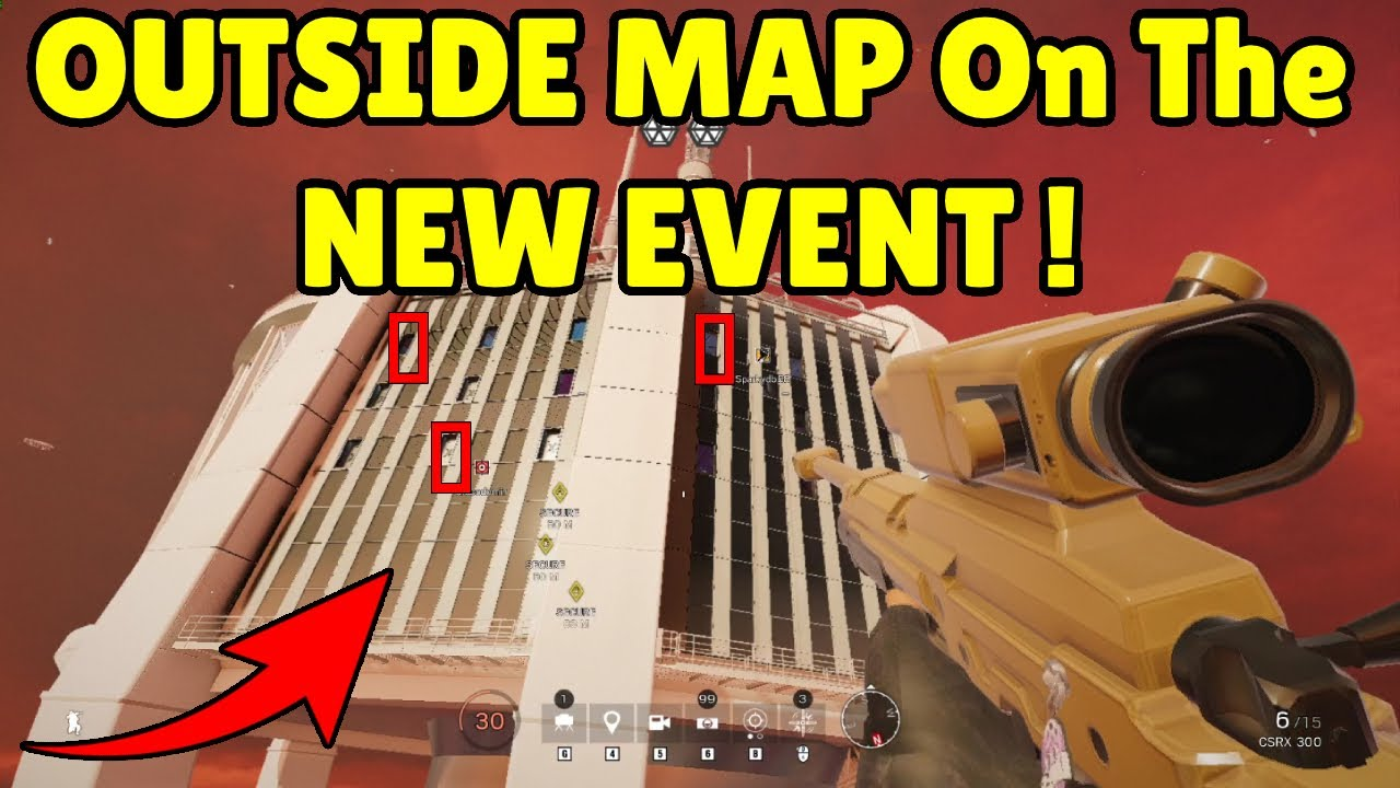 Going OUTSIDE The MAP On The NEW EVENT ( MUTE Protocol ) | Best Pro League ACE - Rainbow Six Siege