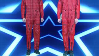 Red Thin Shiny Nylon Wet Look Plastic Jumpsuits