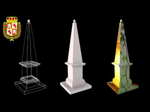 1812 Spanish Constitution Obelisk, 3D Model & UV Mapping