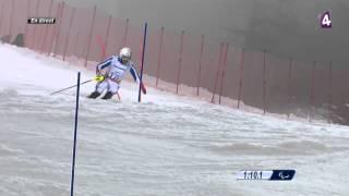 Gauthier-Manuel médaille d'argent en slalom - Jeux Paralympiques Sotchi 2014