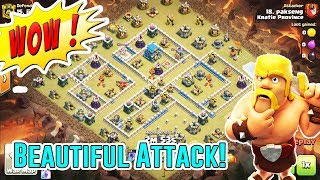 WOW!! BEAUTIFUL STRATEGY⭐ AIR & GROUNDS ATTACK STRATEGY SMASH TH12 3-STAR ( Clash of Clans )