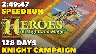Heroes of Might and Magic (1995): Knight Campaign Speedrun in 2:49:47 (128 days, WR)