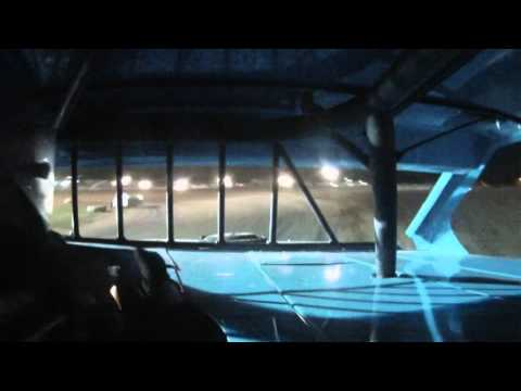 Jeff Bone Larson in car cam at Jackson County Speedway Friday night 10-2-15