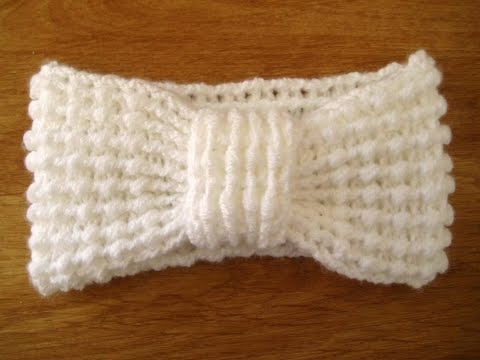 Crochet Ear Warmer headband press CC button for  instructions