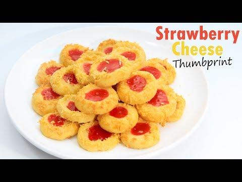 Cara Membuat Strawberry Cheese Thumbprint Cookies