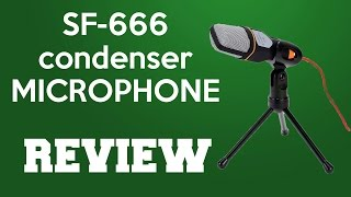 Condenser microphone sf-666 review and sound test
