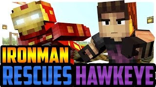 Minecraft Avengers: Iron Man Rescues Hawkeye from ULTRON!