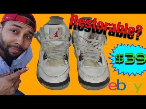 d5e714d7c254 Restoring My  39 EBAY Retro Jordan 3 White Cement Sneakers- PART 1 ...