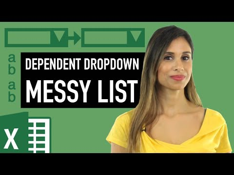 Excel: Find Multiple Matches & Dependent Drop Down List (Unsorted Tabular Data Set)