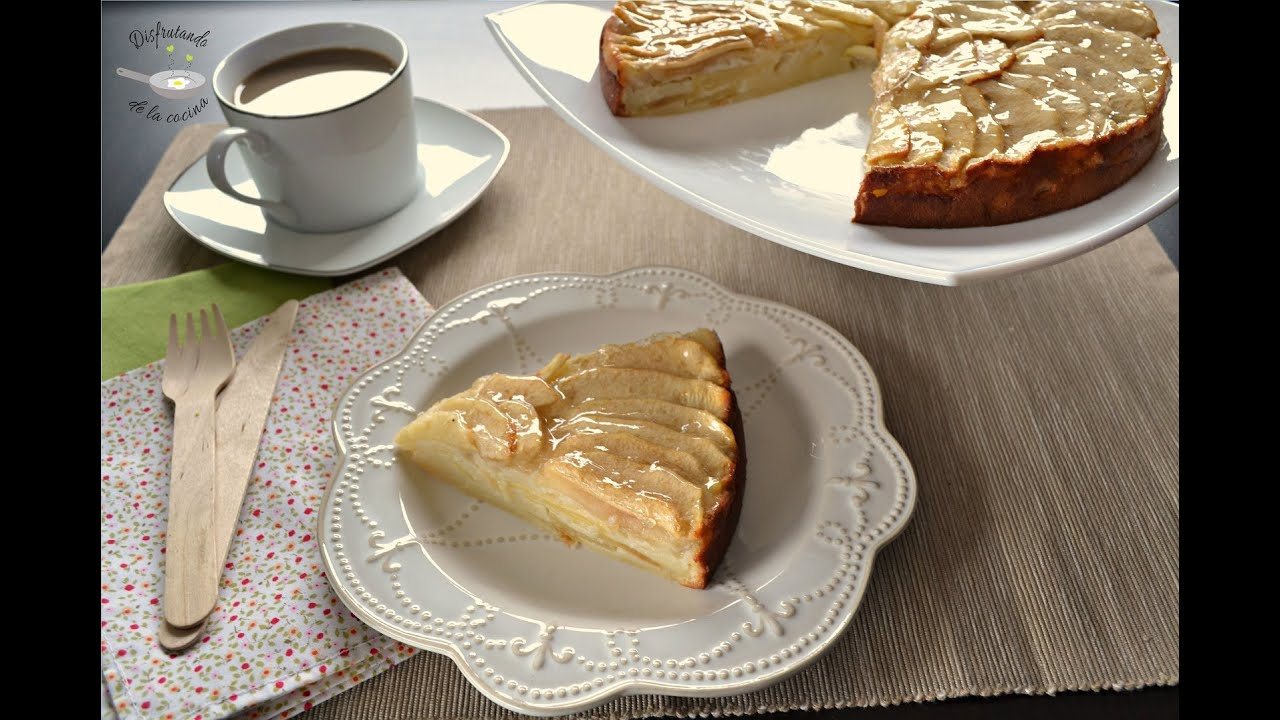 Tarta de manzana postre f cil youtube - Pure de castanas y manzana ...