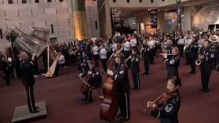 MUST SEE - FLASH MOB !  A First for the U.S. Air Force Band at the National Air and Space Museum!