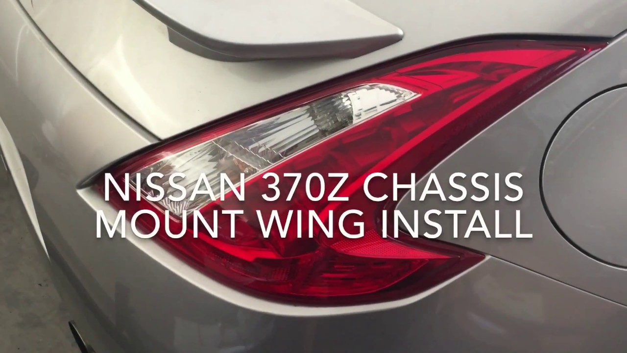 Nissan 370Z battle aero chassis mounted wing install