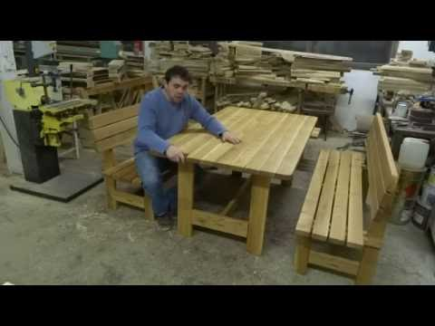 Dřevěný zahradní nábytek