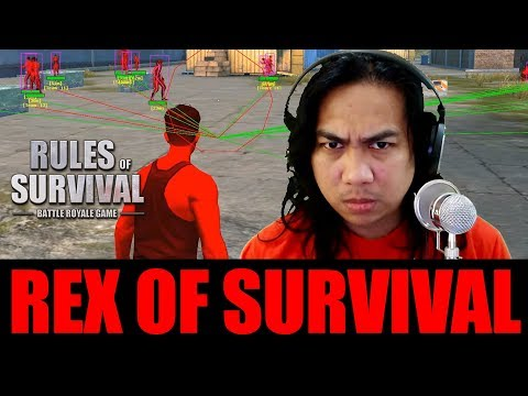 CHEATER VS CHEATER SA ROS - REX OF SURVIVAL with Sir Rex (Rules of Survival Gameplay)