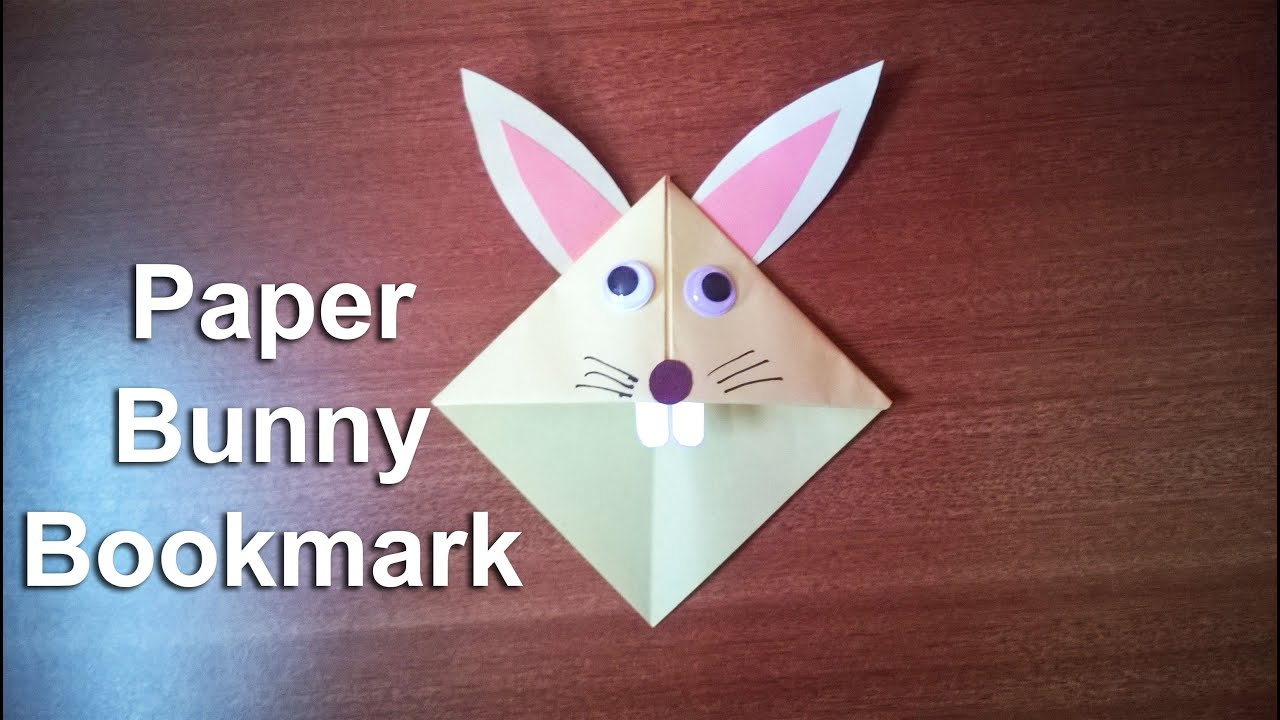 how to make a paper bunny rabbit bookmark youtube. Black Bedroom Furniture Sets. Home Design Ideas