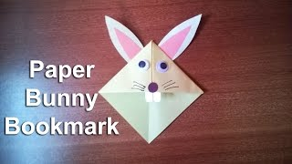 How to Make Paper Bunny Rabbit Bookmark | Step by Step Guide to Make a Paper Origami Bunny Bookmark