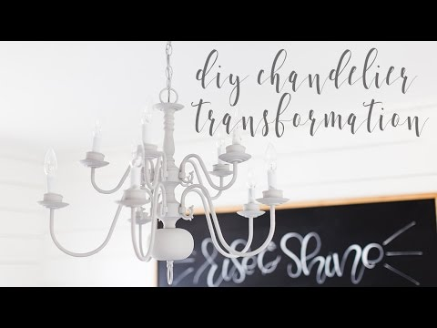 DIY Chalk Paint Chandelier Transformation