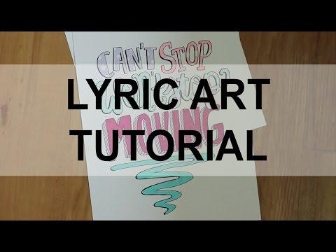 Lyric Art Tutorial by AmbieLiu15