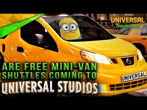 Are UBER-style Mini-Vans coming to Universal? - Universal Studios News 09/06/2017