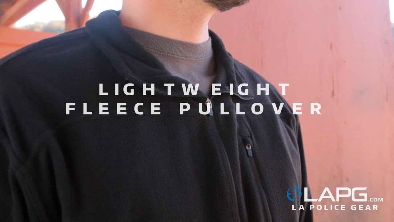 LA Police Gear - Lightweight Fleece Pullover - YouTube