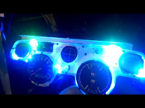 67 Mustang LED Dash lights Installed