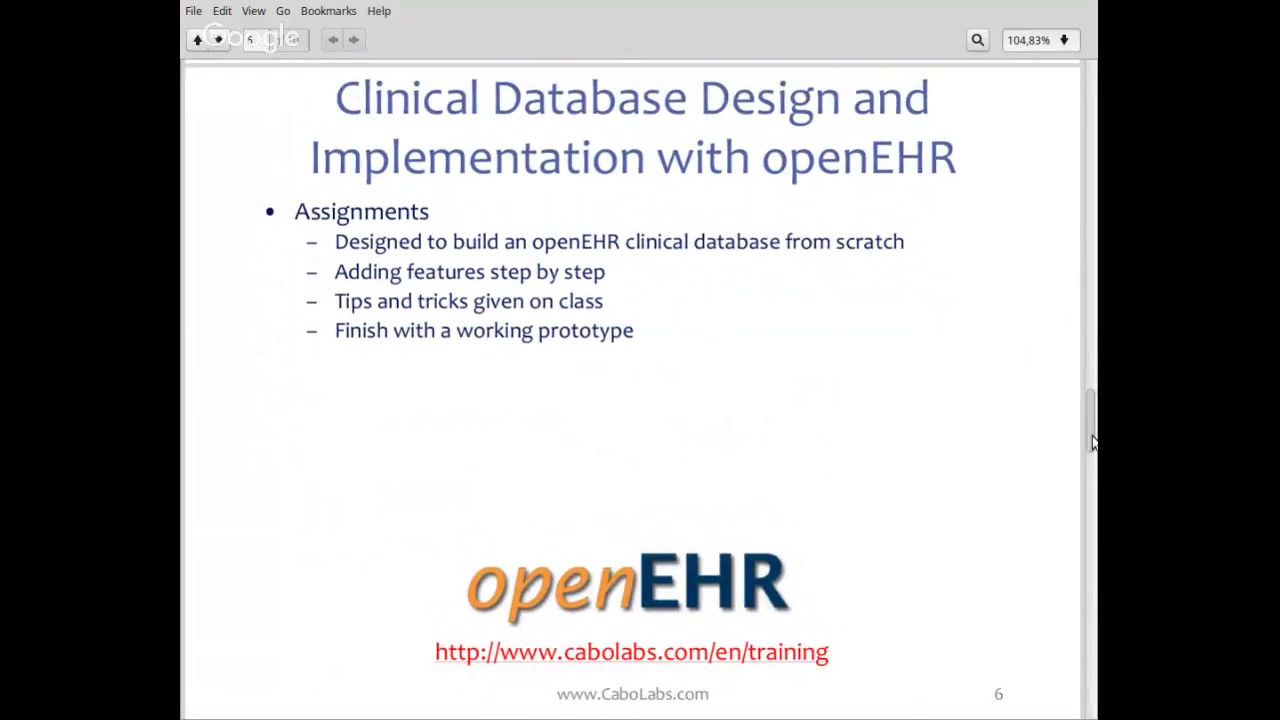 presentation of the clinical database design and implementation with openehr course by cabolabs - How To Design A Database From Scratch