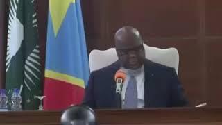 Le président Félix Tshisekedi avec l'armée congolaise en réunion