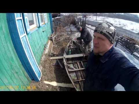 в красноярске. ремонт лодки
