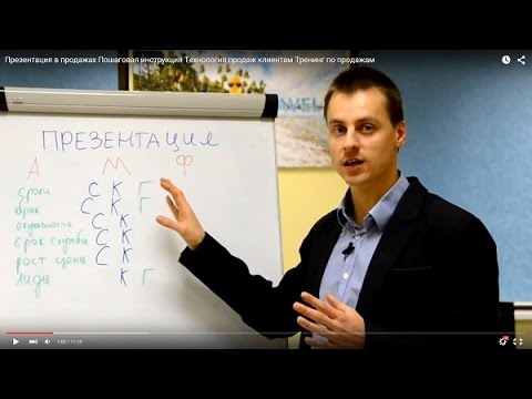 Презентация в продажах. Пошаговая инструкция. Технология продаж клиентам. Тренинг по продажам