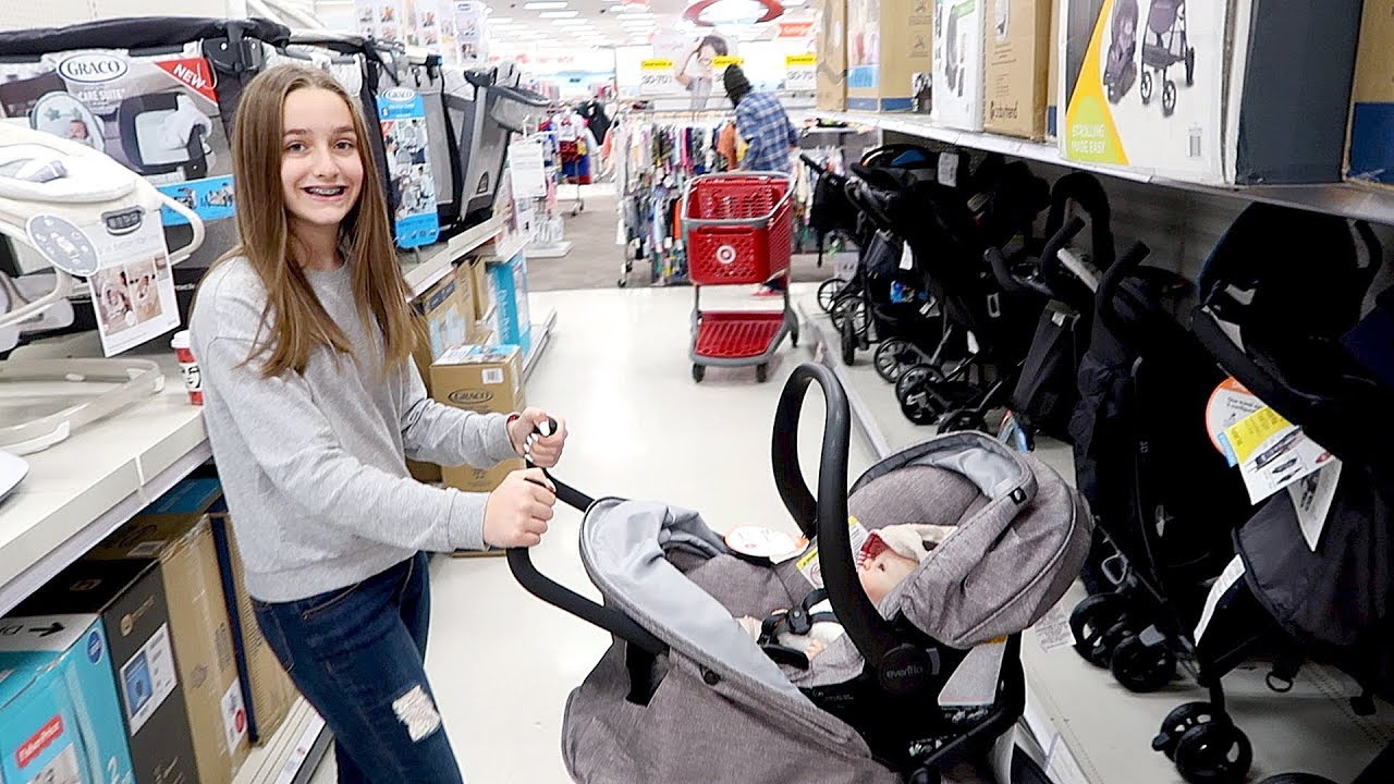 Shopping for Reborn Baby Stroller and Car Seat with My ...