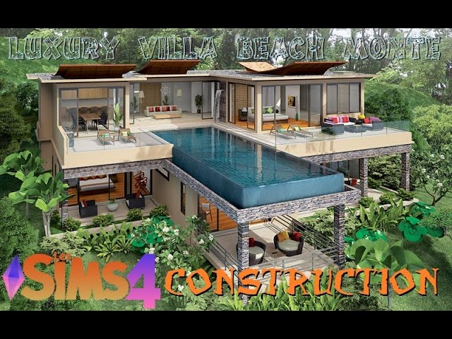 Les Sims 4 Construction Luxury Villa Beach Monte Youtube
