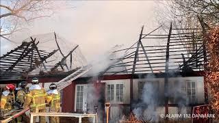 12.04.2019 - Bygningsbrand sommerhus - Juelsminde