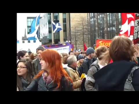 Entire film Edinburgh  march demo. parts 1,2 and 3