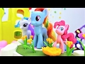 My Little pony Pinkie Pie ve Rainbow Dash oyun parkında