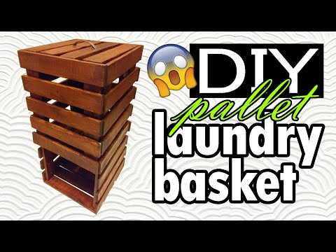 DIY - pallet bathroom storage